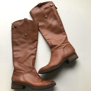 Sam Edelman Brown Tan Leather Tall Riding Boots